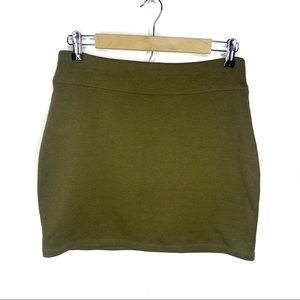 Silence and Noise Army Green Mini Skirt